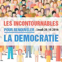 20 octobre 2016 – Transparency France présente «Les incontournables pour renouveler la démocratie»