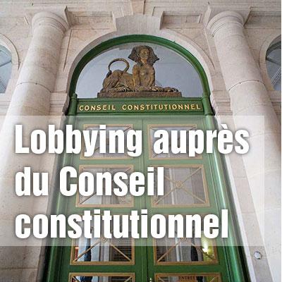 Lobbying : «les portes étroites» du Conseil constitutionnel