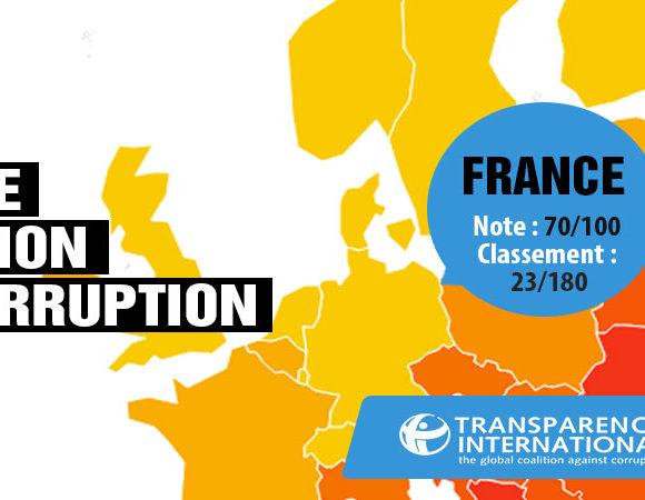 [Communiqué] Indice de la Perception de la Corruption 2017 : la France est 23ème