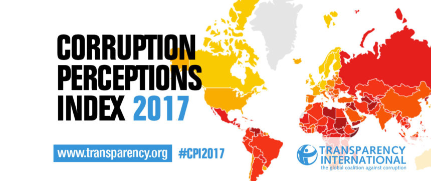 [Communiqué] Transparency International publie son Indice de la Corruption 2017