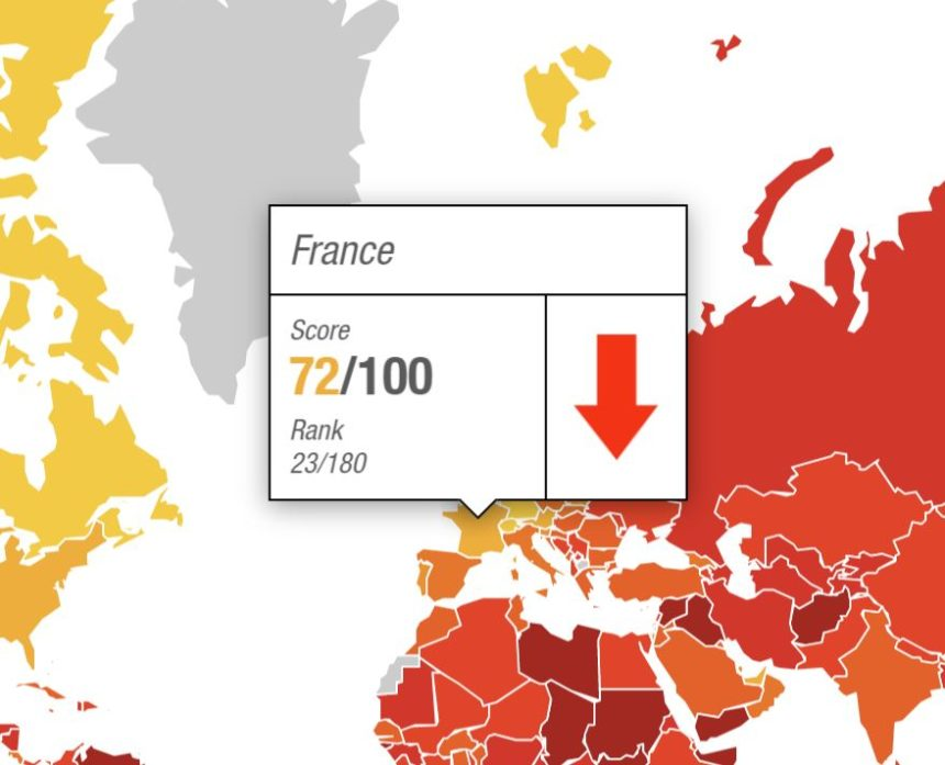 Indice de la perception de la corruption 2019 de Transparency International : Il y a urgence pour la France à relancer la lutte contre la corruption !