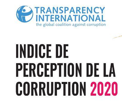 INDICE DE PERCEPTION DE CORRUPTION (IPC) 2020 : LA COVID 19, UNE CRISE SUR LES PLANS SANITAIRE ET ECONOMIQUE, MAIS AUSSI SUR LE PLAN DE LA CORRUPTION