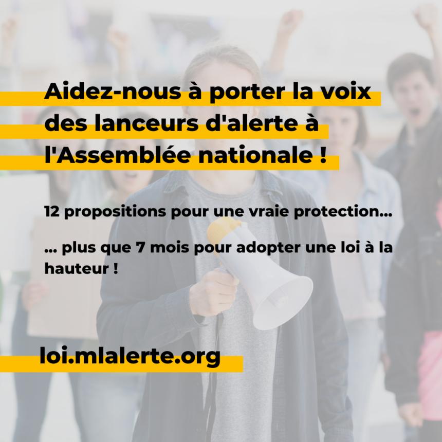 Loi «lanceurs d'alerte» : 29 organisations lancent un appel à la société civile