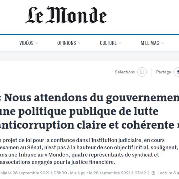 [TRIBUNE] Pas de confiance dans la justice sans lutte efficace contre la corruption